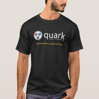 T-shirt cripto   Quarkcoin da moeda do Quark Camiseta