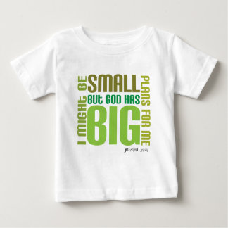 T-shirt cristão do bebê dos planos grandes camiseta para bebê