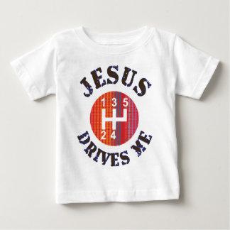 T-shirt cristão do bebê - Jesus conduz-me