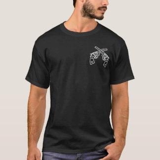 T-shirt cruzado tático das armas camiseta
