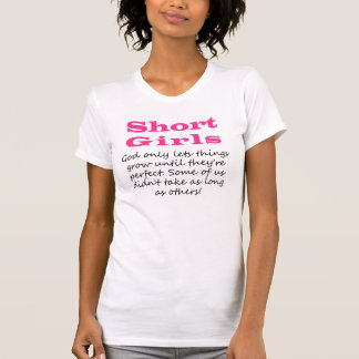 T-shirt curto das meninas