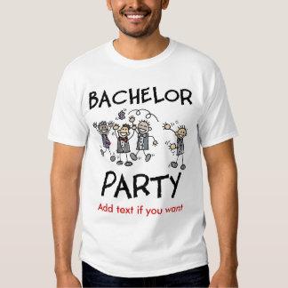 T-shirt customizável do despedida de solteiro