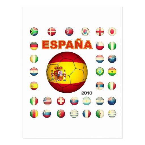 T-shirt d7 de Espana Cartões Postais