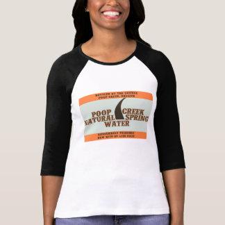 T-shirt da água de primavera natural da angra do