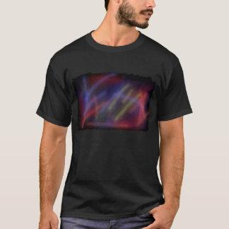 T-shirt da arte abstracta do caos
