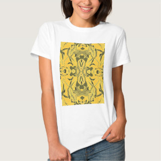 T-shirt da arte abstracta do design do ouro