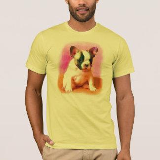 T-shirt da arte do buldogue francês