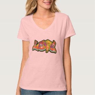 T-shirt da arte dos grafites do amor