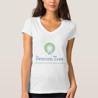 T-shirt da árvore da baliza das mulheres com camiseta