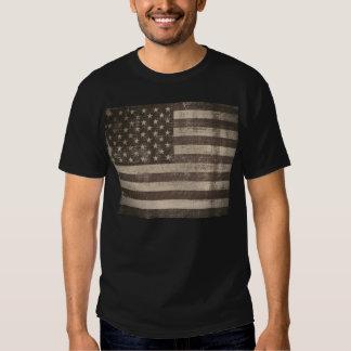 T-shirt da bandeira americana do vintage