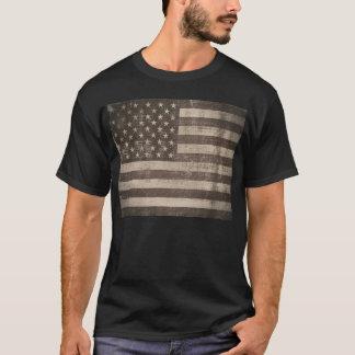T-shirt da bandeira americana do vintage camiseta