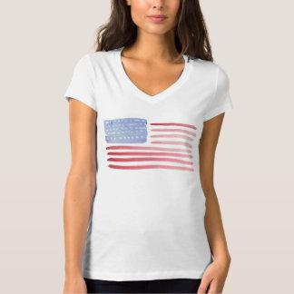 T-shirt da bandeira americana dos EUA Camiseta