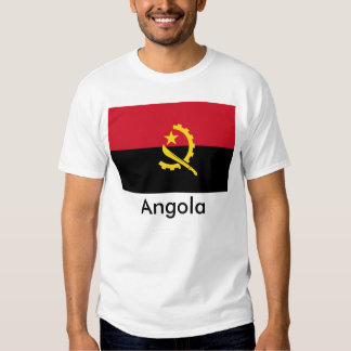 T-shirt da bandeira de Angola