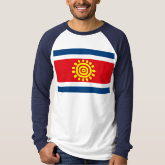 T-shirt da bandeira de Angola Camiseta