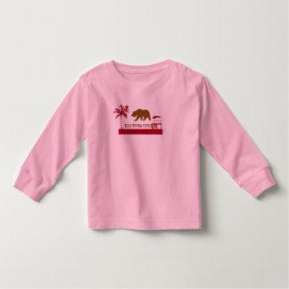 T-shirt da bandeira de Califórnia - palmeiras &