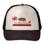 T-shirt da bandeira de Califórnia - palmeiras & pr Bonés
