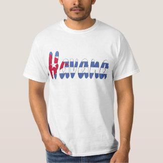 T-shirt da bandeira de Havana, Cuba