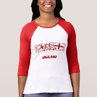 T-shirt da bandeira de Inglaterra - logotipo