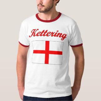 T-shirt da bandeira de Kettering Inglaterra