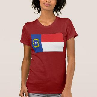 T-shirt da bandeira de North Carolina Camiseta