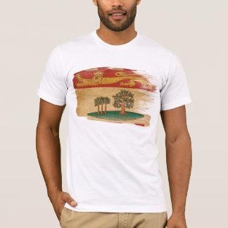 T-shirt da bandeira de Prince Edward Island Camiseta