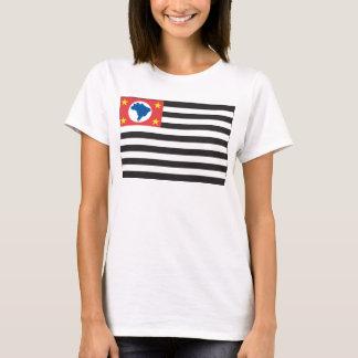 T-shirt da bandeira de Sao Paulo Camiseta