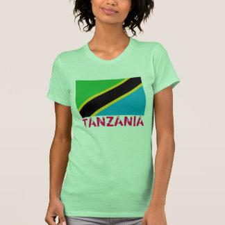 """T-shirt da bandeira de TANZÂNIA """""""