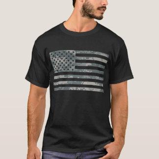 T-shirt da bandeira dos E.U. da camuflagem da ACU Camiseta