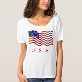 T-shirt da bandeira dos EUA Camiseta