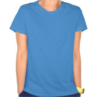 T-shirt da bandeira dos EUA, corações brancos & az