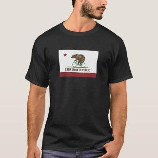T-shirt da bicicleta do urso de Califórnia