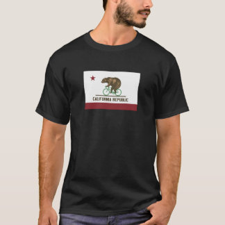 T-shirt da bicicleta do urso de Califórnia Camiseta