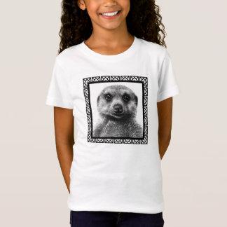 T-shirt da boneca das meninas de Meerkat Camiseta