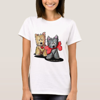 T-shirt da boneca do duo de Terrier de monte de Camiseta