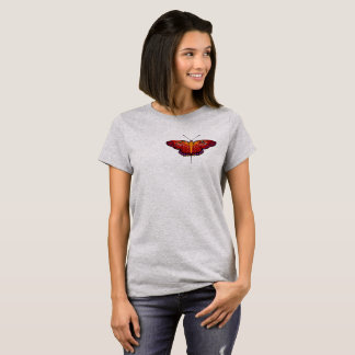 T-shirt da borboleta camiseta