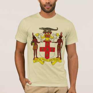 T-shirt da brasão de Jamaica Camiseta