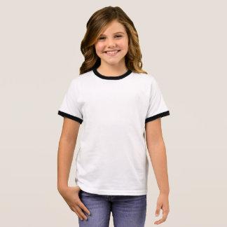 T-shirt da campainha da menina camiseta ringer