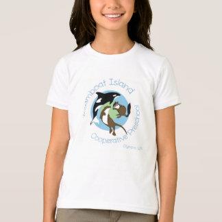 T-shirt da campainha das meninas camiseta