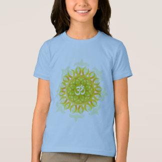 T-shirt da campainha das meninas da mandala do OM Camiseta