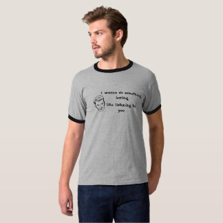 T-shirt da campainha dos homens engraçados camiseta