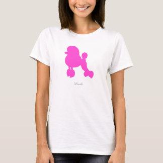 T-shirt da caniche (versão cor-de-rosa 1) camiseta