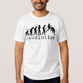 T-shirt da carta da evolução da revolução do