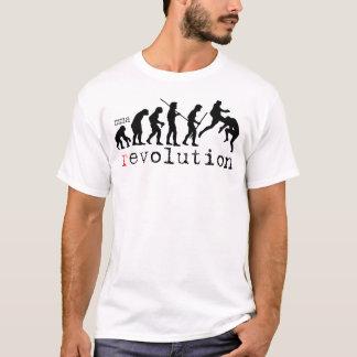 T-shirt da carta da evolução da revolução do camiseta