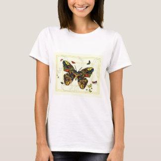 T-shirt da colagem da borboleta camiseta