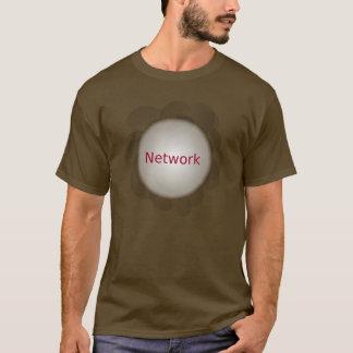 t-shirt da conexão de rede camiseta