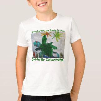 T-shirt da conservação da Mar-Tartaruga Camiseta