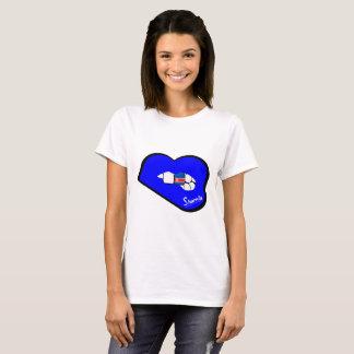 T-shirt da Coreia do Norte dos lábios de Sharnia Camiseta