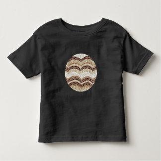 T-shirt da criança com mosaico bege