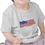 T-shirt da criança da bandeira dos EUA