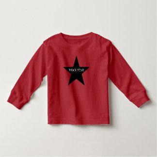 T-shirt da criança da estrela do rock